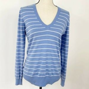 J Crew Small Long Sleeve V-neck Sweater Blue